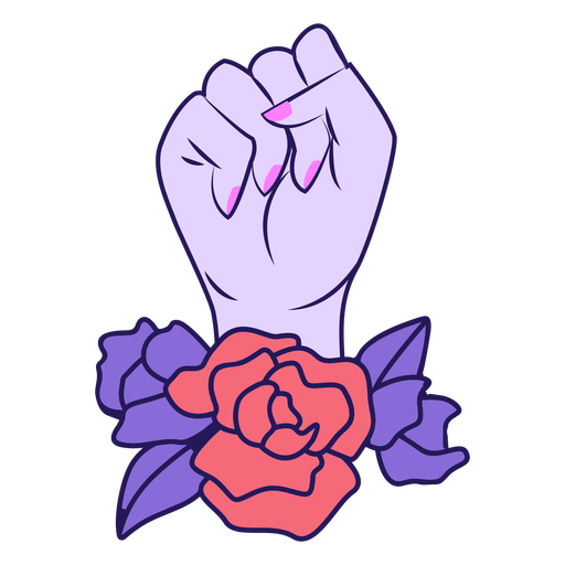 Fist in the air color-stroke