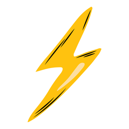 Lightning bolt semi-flat