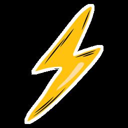 Lightning bolt semi-flat