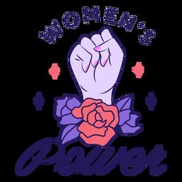 Women's power lettering
