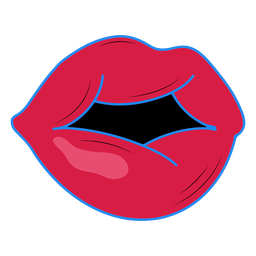 Sensuous lips color-stroke