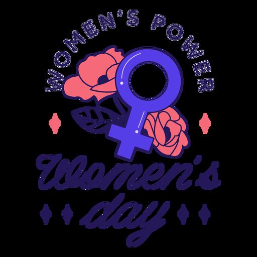 Insignia del día de la mujer Transparent PNG
