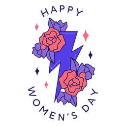 Feliz Dia da Mulher Emblema