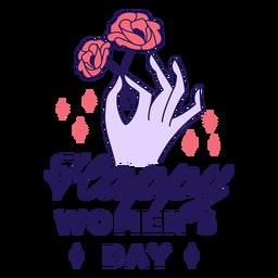 Distintivo feliz dia da mulher