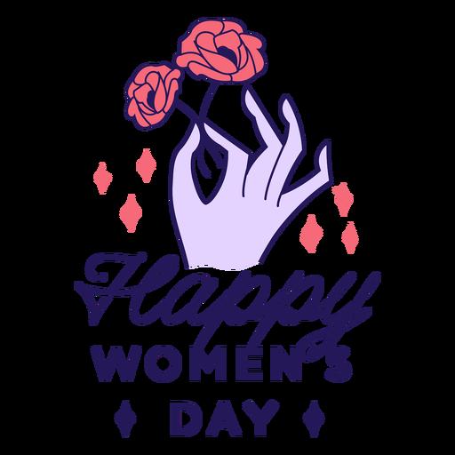 Insignia feliz dia de la mujer