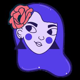Retrato de niña segura de trazo de color