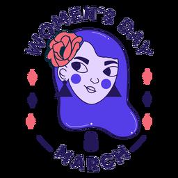 Crachá do dia da mulher 8 de março