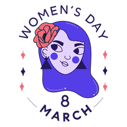 Insignia del día de la mujer 8 de marzo