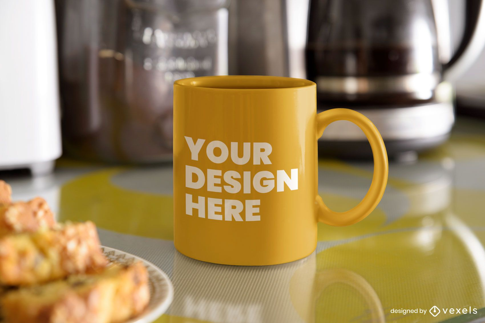 Breakfast mug mockup design