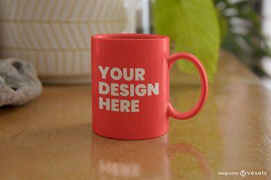 Design de maquete de mesa de caneca