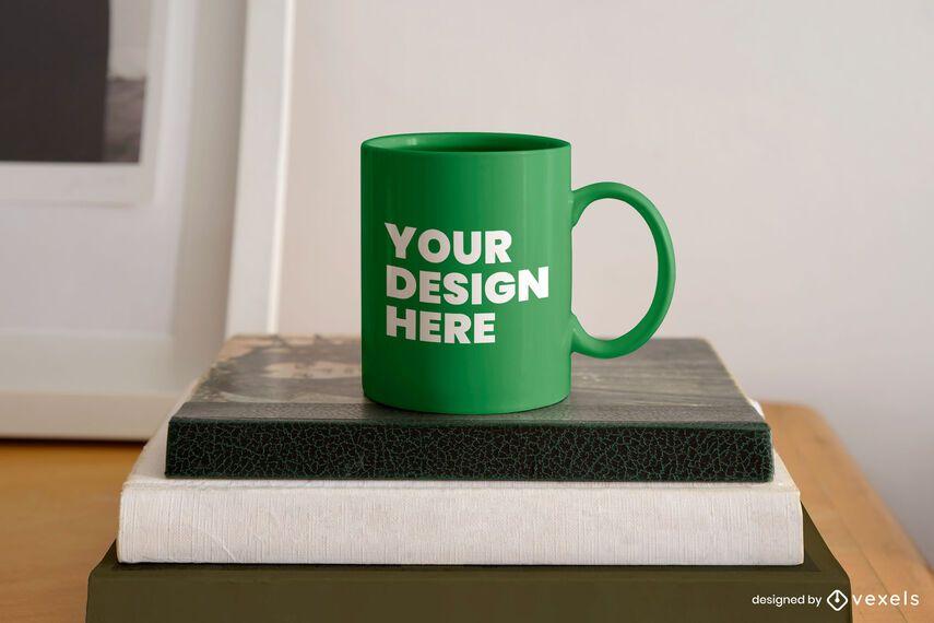 Books mug mockup design