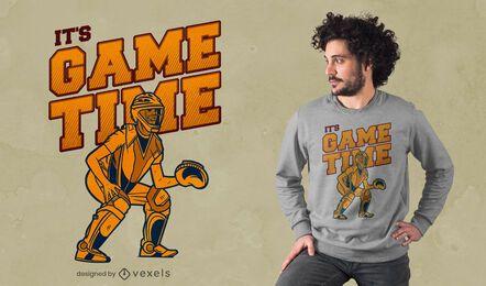Diseño de camiseta de béisbol de tiempo de juego.