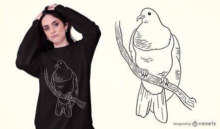 Keruru bird t-shirt design