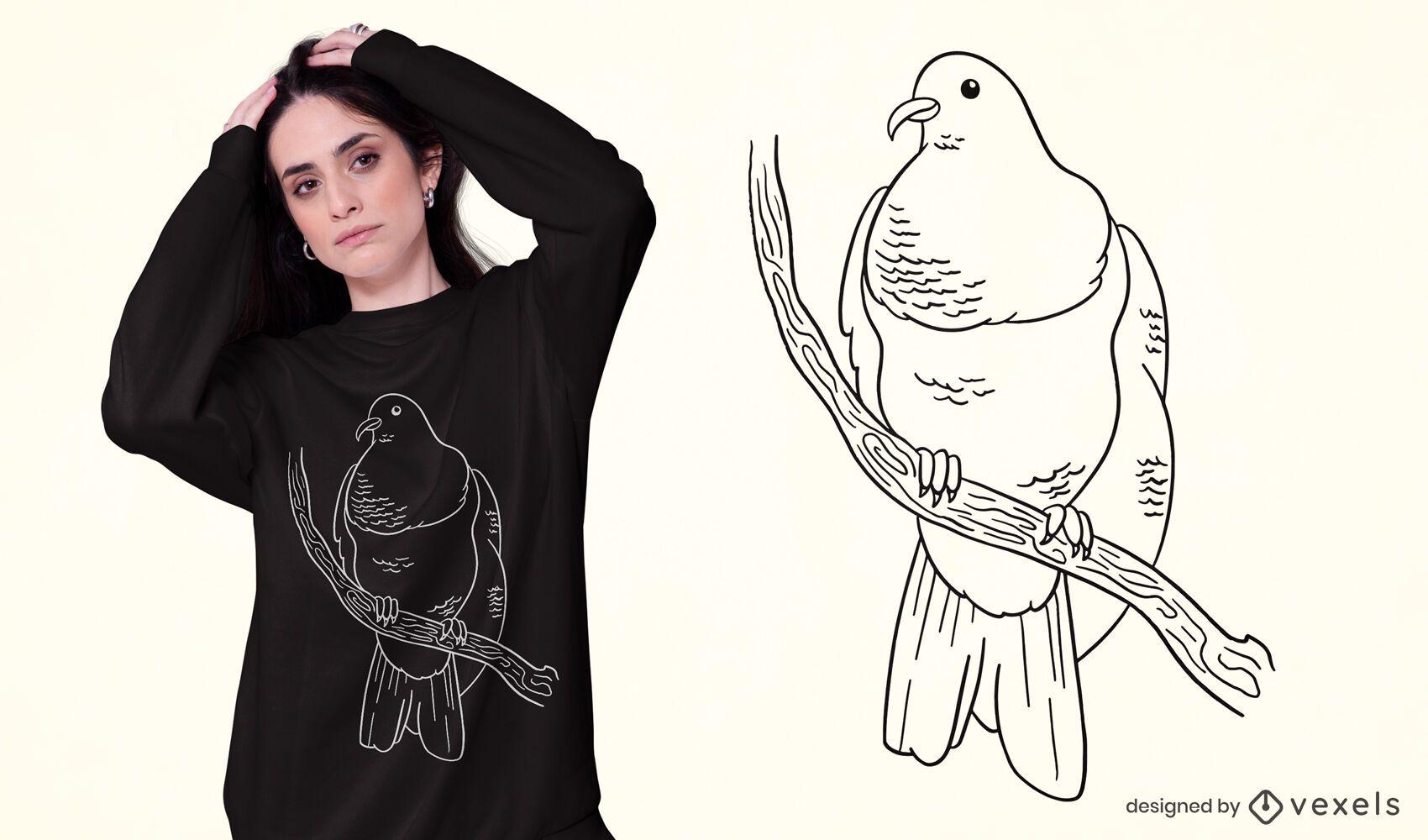 Keruru bird t-shirt design
