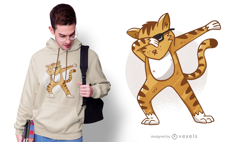 Sunglasses cat dab t-shirt design