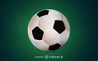 Pelota de futbol 3d