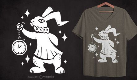 Rabbit cut-out t-shirt design