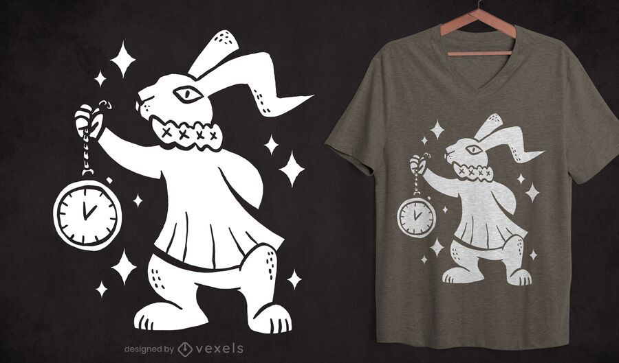 Rabbit cut-out t-shirt design