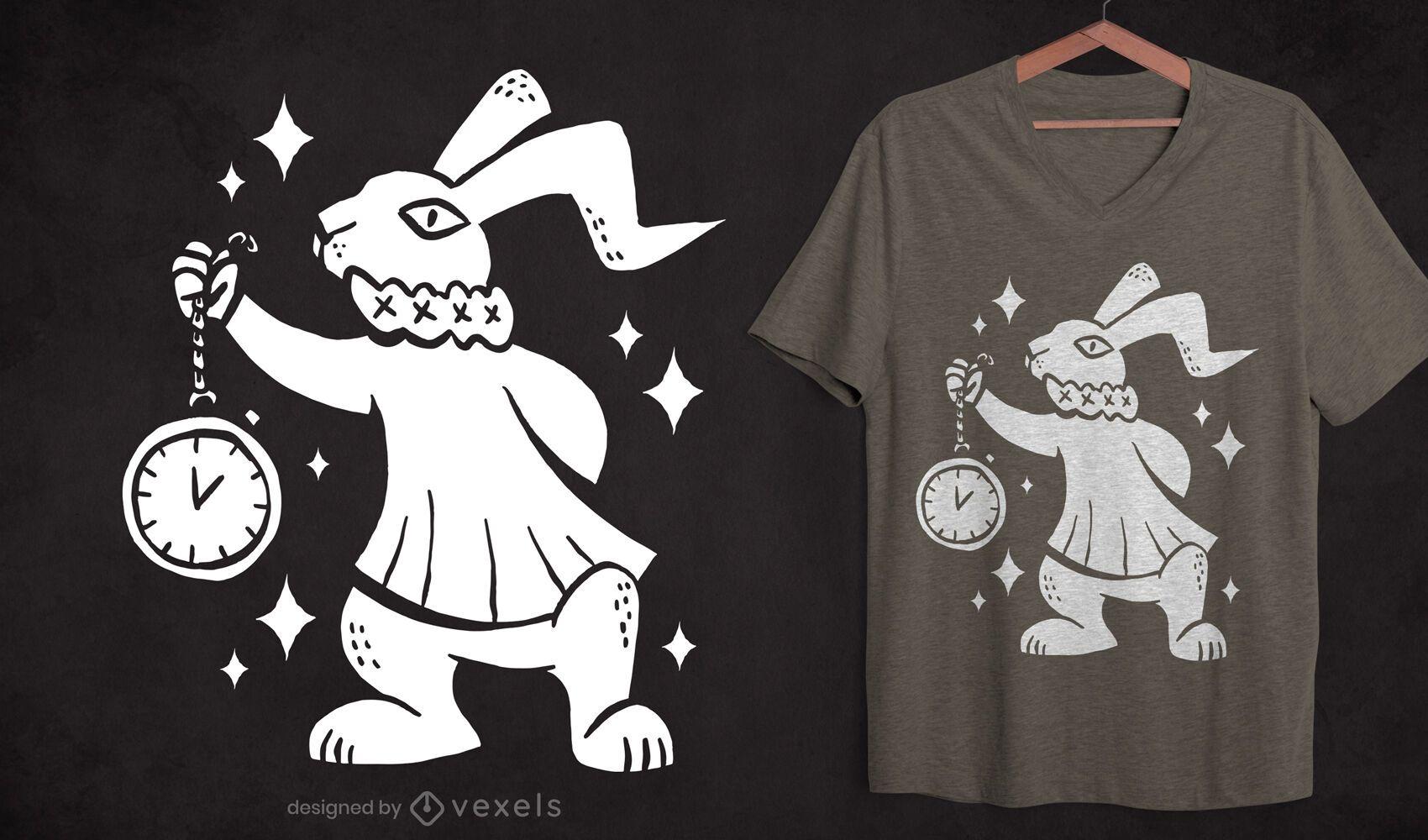 Dise?o de camiseta con recorte de conejo