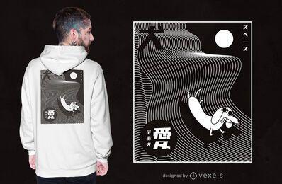 Conceptual abstract dog t-shirt design