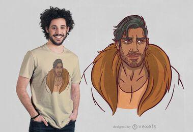 Diseño de camiseta de hombre árabe