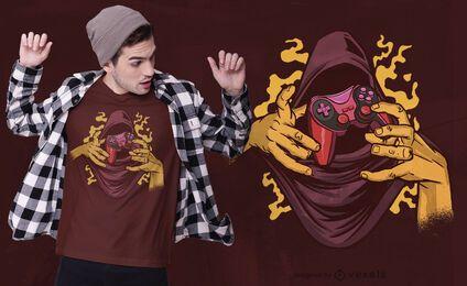 Diseño de camiseta de joystick mágico.
