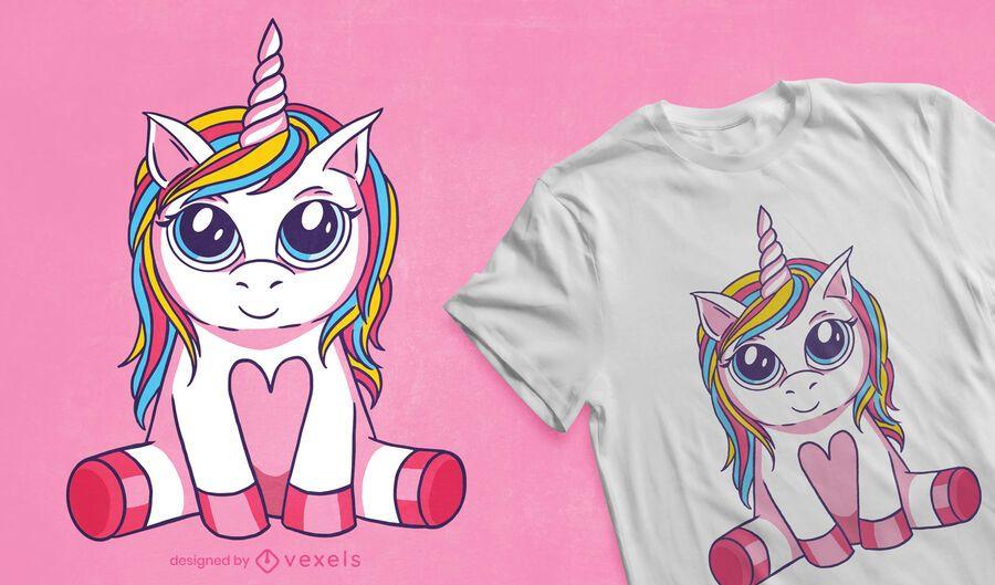 Big eyed unicorn t-shirt design