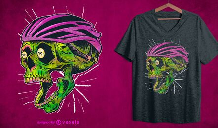 Cyclist skull t-shirt design