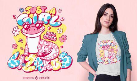 Design de camisetas para amantes de lagartos