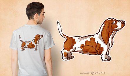 Design de camiseta Basset Hound