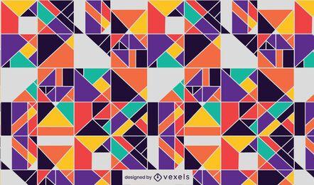 Desenho de padrão geométrico colorido