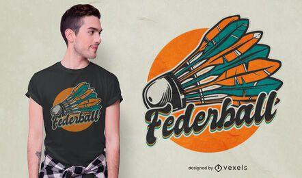 Diseño de camiseta alemana Shuttlecock