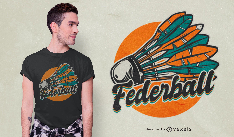 Shuttlecock German t-shirt design
