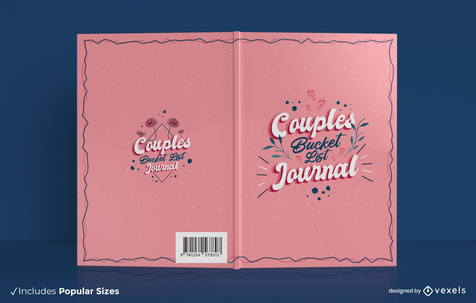 Diseño de portada de libro de lista de deseos de pareja