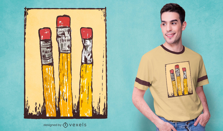 Chewed pencil t-shirt design