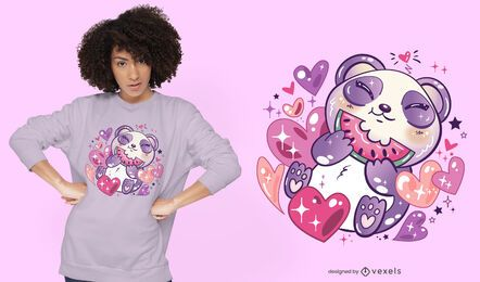 Design de camiseta panda Kawaii