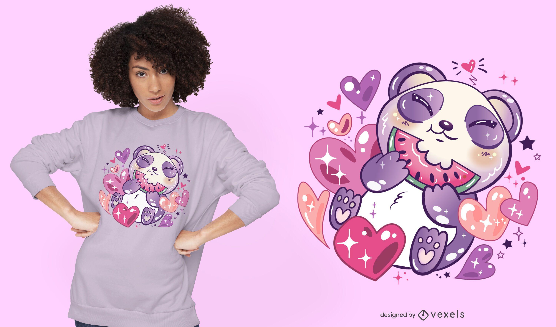 Kawaii panda t-shirt design