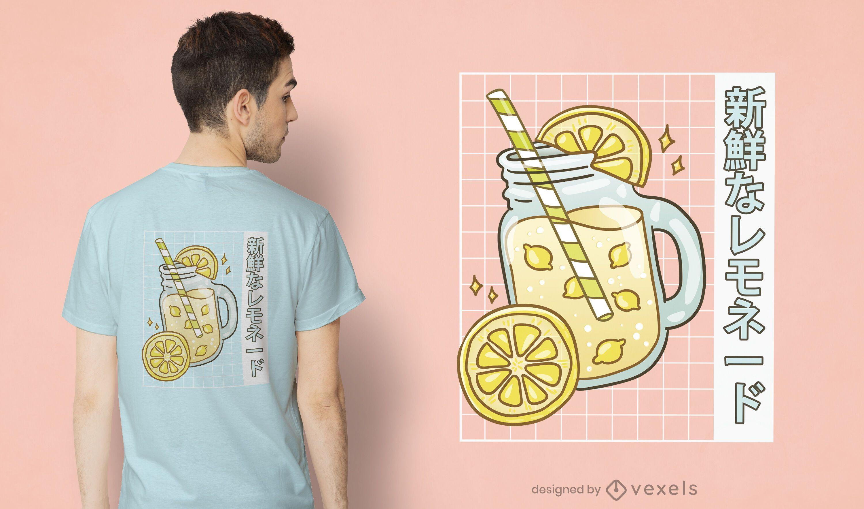 Design fofo de t-shirt limonada