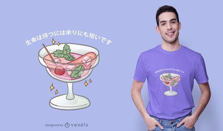 Design de camiseta Kawaii Martini