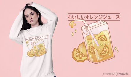 Cute orange juice box t-shirt design