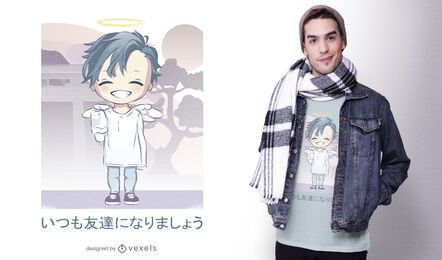 Cute angel anime t-shirt design