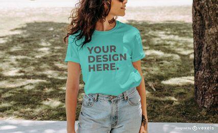 Maqueta de camiseta modelo Park