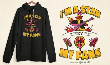 Eu sou o design de uma camiseta estrela