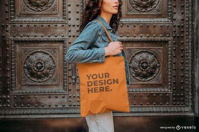 Modell Einkaufstasche außerhalb Modell Design