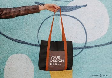 Hanging tote bag mockup psd design