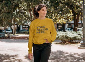 Straßenmodell-Sweatshirt-Modellentwurf