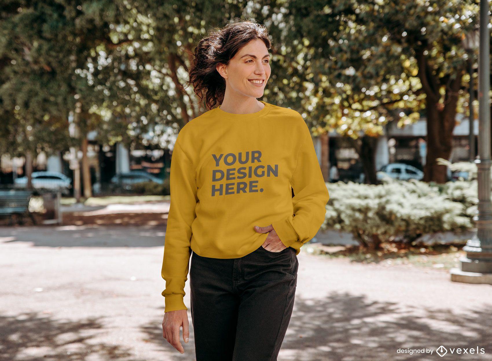 Street model sweatshirt mockup design