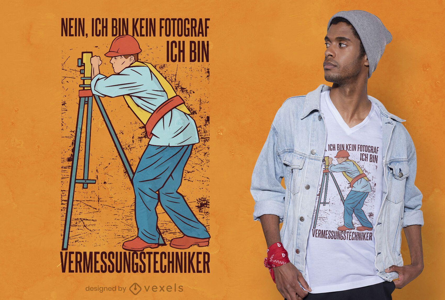 Design de camiseta de Surveyor
