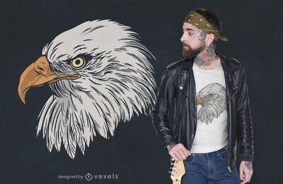 Diseño de camiseta de cabeza de halcón
