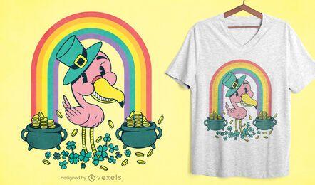 Design de camiseta do flamingo St Patricks